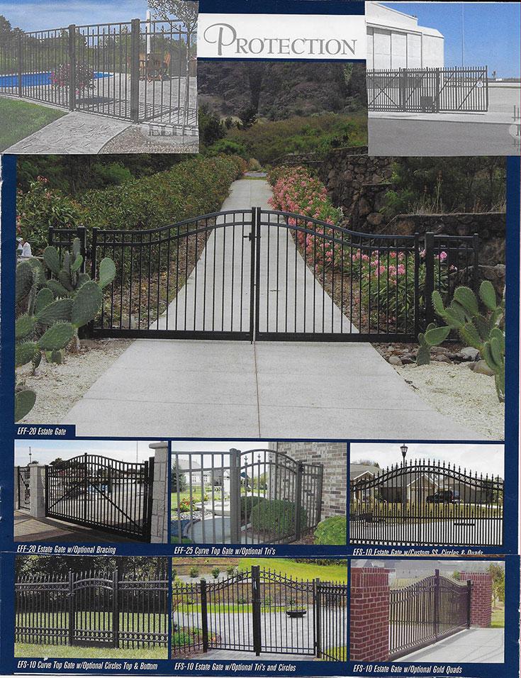 Aluminum Yard And Pool Fences, Estate Gates